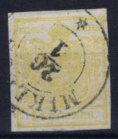 Osterreich:  Mi. 1 Y Thin Paper  Obl./Gestempelt/used - 1850-1918 Impero