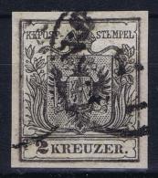 Osterreich:  Mi. 2 Xc Grau Schwartz  Obl./Gestempelt/used - Gebraucht