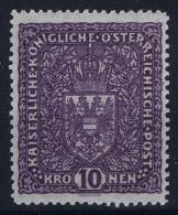 Osterreich Mi 203 Ia  Grauviolett  Postfrisch/neuf Sans Charniere /MNH/** 1916 - Ungebraucht