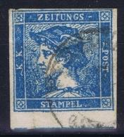 Osterreich Mi 6 II  Obl./Gestempelt/used  1851 Zeitungsmarke - 1850-1918 Imperium