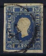 Osterreich Mi 16  Obl./Gestempelt/used  1858 Horizontal Fold Zeitungsmarke - Gebraucht