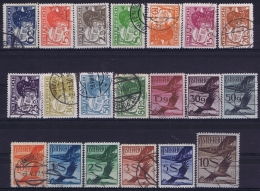 Osterreich Mi 468 - 487 Used Obl. 1925 - Airmail