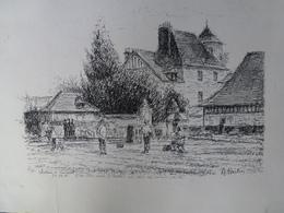 Lithographie Signée A.Quilici - Château De Vasceuil 24-05-01 - Lithographies