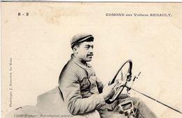 J.Edmond Sur Voiture Renault  -  Concurrent Grand Prix De L'ACF 1906  -  CPA - Grand Prix / F1