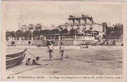 33 Andernos Les Bains La   Plage Vers L'imperial Et Le Miami - Andernos-les-Bains
