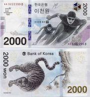SOUTH KOREA       2000 Won       Comm.       P-New       2018        UNC - Corea Del Sud