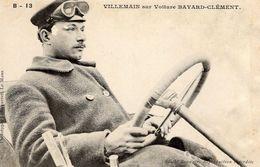 A.Villemain Sur Voiture Bayard-Clément  -  Concurrent Grand Prix De L'ACF 1906  -  CPA - Grand Prix / F1