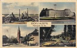 ESCH-SUR-ALZETTE - GRAND DUCHÉ DU LUXEMBOURG - PEU COURANTE CPA MULTIVUES. - Esch-Alzette