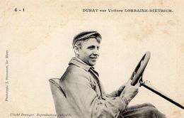 Arthur Duray Sur Voiture Lorraine-Dietrich  -  Concurrent Grand Prix De L'ACF 1906  -  CPA - Grand Prix / F1