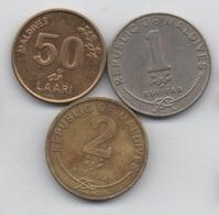 Maldives : Série De 3 Pièces : 50 Laari - 1 Rufiyaa - 2 Rufiyaa 1982-2007 - Maldives