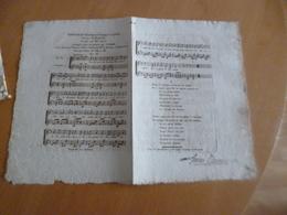 Parttion XIX ème Romance De Palma Musique Plantade Autographe Gaveau - Chant Soliste