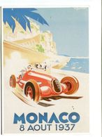 CPM - Repro Affiche MONACO 8 AOUT 1937 - Rallyes