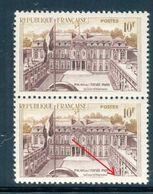 France - N° 1126  1 Exemplaire Avec Cadre Brisé Tenant à 1 Normal - Ref V526 - Variétés Et Curiosités