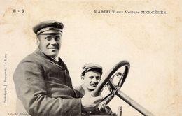 'Mariaux' Et Son Mécanicien Sur Voiture Mercedes  -  Concurrent Grand Prix De L'ACF 1906  -  CPA - Grand Prix / F1