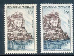 France - N° 1127 - 1 Exemplaire Brun Pâle + 1 Normal - Ref V529 - Variétés Et Curiosités