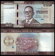 Liberia 20 DOLLARS 2017 P 33b UNC - Liberia