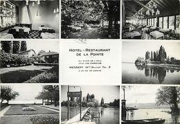 - Ref-W893- Haute Savoie - Messery - Souvenir Hotel Restaurant De La Pointe - Multi Vues - Hotels Et Restaurants - - Messery
