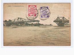 Libau Kriegshafen Brücke 1920 OLD POSTCARD 2 Scans - Lettonie
