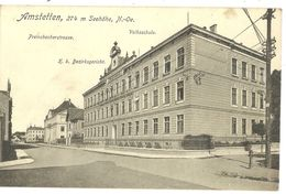 Amstetten Preinsbacherstrasse  Volksschule  Bezirksgericht N°19464  1917 - Amstetten