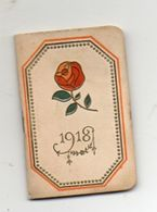 Calendrier De Poche 1918, Au Bon Marché Rose Rouge 3,8  X  5,5 Cm - Calendars