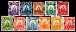Honduras-0004 - 1890: Y&T N. 21/31 (+/sg) Hinged/NG - Senza Difetti Occulti. - Honduras