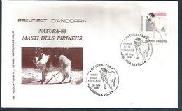 ANDORRE ESPAGNOL FDC 1988 CHIEN DES PYRENEES - Andorre Espagnol