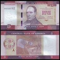 Liberia 5 DOLLARS 2016 P 31 UNC - Liberia