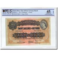 Billet, EAST AFRICA, 20 Shillings = 1 Pound, 1955, 1955-01-01, KM:35, Gradée - Kenya