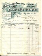 42.LOIRE.ROANNE.MANUFACTURE D'ENVELOPPES.ARTICLES DE PAPETERIE.RAYNAL & GRANGENEUVE. - Imprimerie & Papeterie