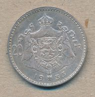 België/Belgique 20 Fr Albert1 1933 Vl Pos A Morin 306a (137920) - 11. 20 Francs & 4 Belgas