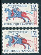 France - N° 1172 - 1 Exemplaire Trait Rouge + 1 Normal Sans Trait - Ref V539 - Varietà E Curiosità