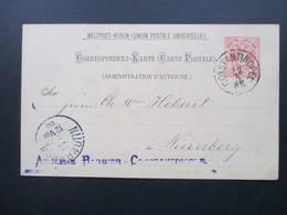 Österreich 1886 Levante Ganzsache P5 I Constantinopel - Nürnberg. Adolphe Barbier Constantinople - Levante-Marken
