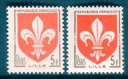France - N° 1186 - 1 Exemplaire Rouge Pâle + 1 Normal  - Ref V541 - Variétés Et Curiosités