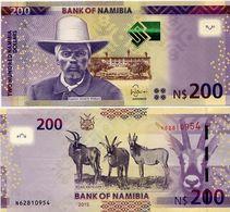 NAMIBIA       200 Dollars       P-15b       2015       UNC - Namibie
