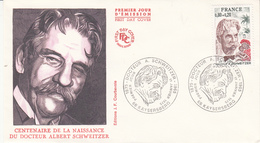 Env Affr Y&T 1824 Obl 1875 DOCTEUR A. SCHWEITZER 1965 / 68 KAYSERSBERG Du 11 JANVIER 1975 - Marcofilia (sobres)