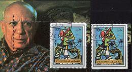 Maler Picasso 1972 Fujeira 1378+Block 140 O 5€ Kunst Gemälde Frau Mit Hut Hojita M/s Art Bloc Ss Sheet Bf Paintings - Fujeira