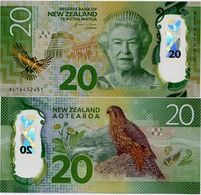 NEW ZEALAND       20 Dollars       P-193       (20)16       UNC - Nuova Zelanda