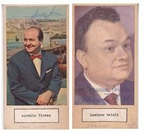 AURELIO FIERRO; LUCIANO TAIOLI. AUTOGRAPHE AUTOGRAFO SIGNEE SIGNATURE AUTHENTIQUE ORIGINAL.-BLEUP - Autographes