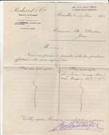 DOC3) BELGIQUE BRUXELLES RUE STEVIN HENRI MAUS FATTURA 1912 RICHARD & CIE SC1 - 1900 – 1949