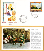 VIAGGIO DI PAPA GIOVANNI PAOLO II° A SIENA 14-9-1980 - Religioni
