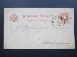 Österreich Um 1881 Ganzsache P 27 (Ital) Stempel K1 Bozen Nach Adorf Gesendet - 1850-1918 Imperium