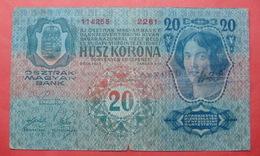 MONTENEGRO - YUGOSLAVIA 20 KRONEN ND 1917-1919, WITH CITY SEAL RIJEKA - Yougoslavie