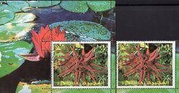 Seerose 1972 Fujeira 1337+Block 135 O 5€ Gemälde Blumen Wasser-Rosen Hoja M/s Art Bloc S/s Plant Sheets Bf Flowers - Fujeira