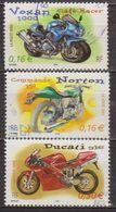 Motos - FRANCE - Cylindrées Et Carénages: Ducati, Norton, Voxan - N° 3511-3512-3516  - 2002 - Used Stamps