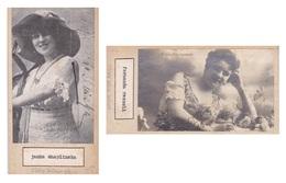 ESTHER GNAVI; LYCETTE DARSONVAL. AUTOGRAPHE AUTOGRAFO SIGNEE SIGNATURE AUTHENTIQUE ORIGINAL.-BLEUP - Autogramme & Autographen