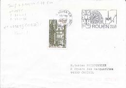 SEINE MARITIME 76 -  ROUEN   - FLAMME N° 4296 FD  - DESCRIPTION - 1977 - TIMBRE N° 1875  ROUEN  TARIF 2 8 76 - Oblitérations Mécaniques (flammes)