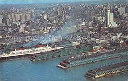 11693065 New York City Fliegeraufnahme Piers Ships New York City - Vereinigte Staaten