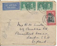 Cylon Cover Sent Air Mail To England 1937 ?? - Sri Lanka (Ceylon) (1948-...)