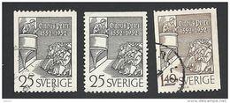 Schweden, 1952, Michel-Nr. 367-368 C+D, Gestempelt - Schweden