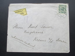 Österreich 1901 / 1905 Michel Nr. 93 EF Rekommandirt / Einschreiben Salzburg 1 - Krems An Der Donau - 1850-1918 Imperium